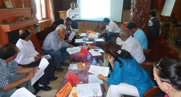 GoGo President Kedar Khadka Facilitating the CSO Sustainability Index Exercise on 31 May 2015